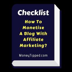 checklist - affiliate marketing blog